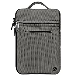 VG Premium Hydei Extra Pockets Nylon Sleeve Carrying Case with Handle for LG Google Nexus 7 2013 Edition (Steel Grey)