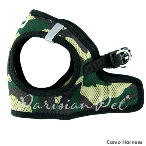 Parisian Pet Step-In Dog Harness, Small, Camo