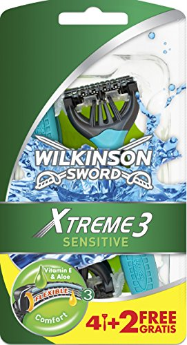 Wilkinson - Sword Extreme 3 Sensitive, 6 Rasoi