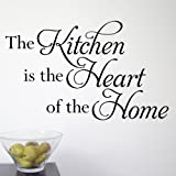 The Kitchen is the Heart of the Home' wall quote sticker - WA272X LARGE / GREY