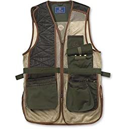 Beretta Men\'s Two Tone Clay Shooting Vest, Loden/Khaki, Large
