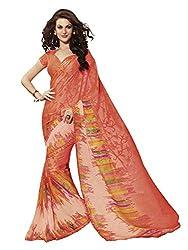 Subhash Sarees Daily Wear Orange Color Brasso Saree Sari Sarees