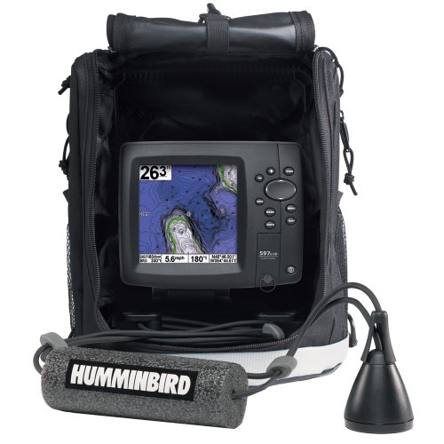 Fish finder gps combo humminbird 4089301 ice 597ci hd for Ice fish finder