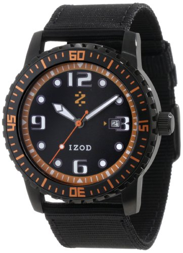 IZOD Men's IZS3/2 BLK/ORANGE Sport Quartz 3 Hand Watch