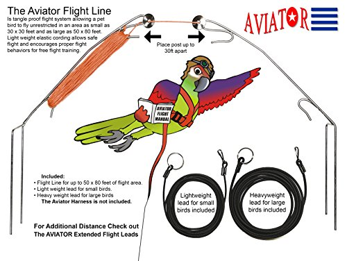 The AVIATOR Flight Line (Cockatiel Flight Harness compare prices)