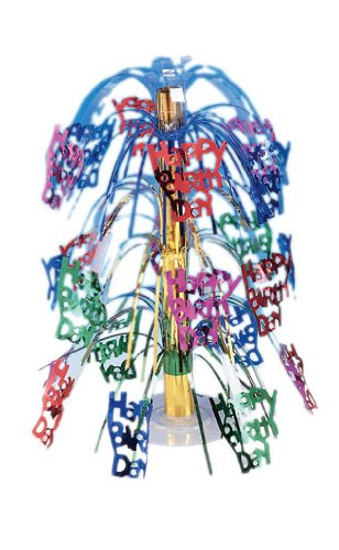 Creative Converting Multicolor Happy Birthday Cascading Centerpiece