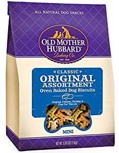 Old Mother Hubbard Classic Original Assortment Mini Natural Crunchy Dog Treat Biscuits, 3.8-Pound Bag