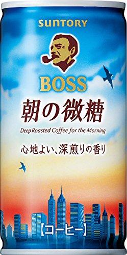サントリーフーズ ボス 朝の微糖 185g缶×30本