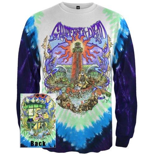Grateful Dead - Mens Watch Tower Tie Dye Long Sleeve X-Large Multi