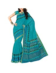 Saree dotcom Art Silk Saree (Light Blue)