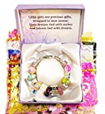 Timeline Treasures Girls Starter Charm Bracelet Holiday Rhinestone Enamel Fits Pandora Beads European Style FREE Bead - Jewelry Kit 2013
