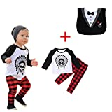 FEITONG 1Set Infant Toddler Baby Boys Long Sleeve Print T-shirt Tops+ Pants (24 Months)