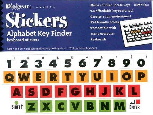 Kids Computer Keyboard Stickers - Alphabet Key Finder Label Decal