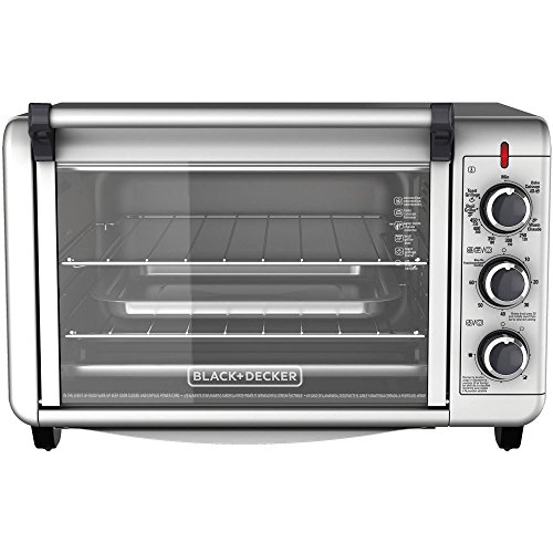 Black & Decker Countertop Convection Toaster Oven with External Crumb Tray- Silver (Weed Grass Juicer compare prices)
