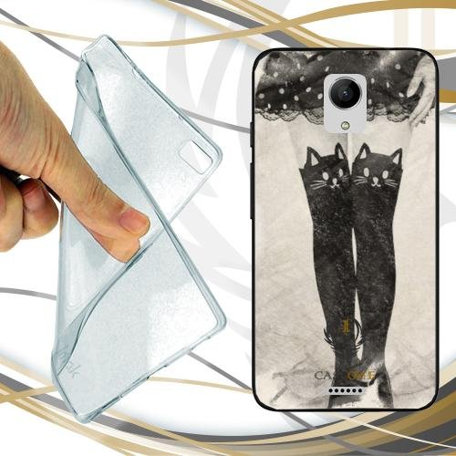 CUSTODIA COVER CASE CALZE LADY COLLANT PER WIKO FREDDY
