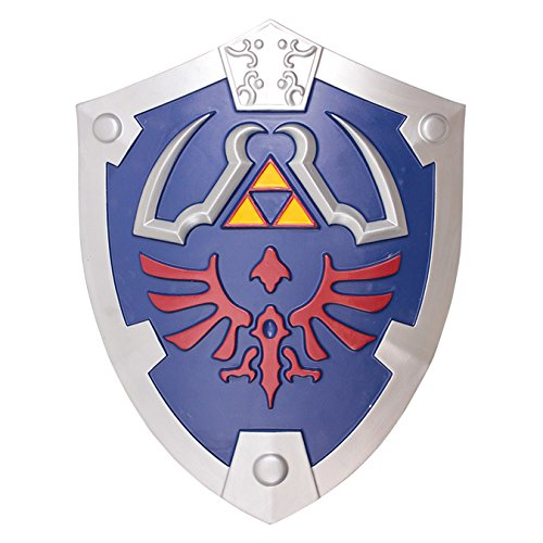 SwordMaster - Large Blue Link's Knight Hylian Foam Shield from the Game Legend of Zelda NIB