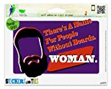 "There's A Name For People Without Beards Woman Funny Vinyl Car Bumper Window Sticker 8"" x 8"""