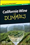 img - for California Wine For Dummies , Mini Edition book / textbook / text book