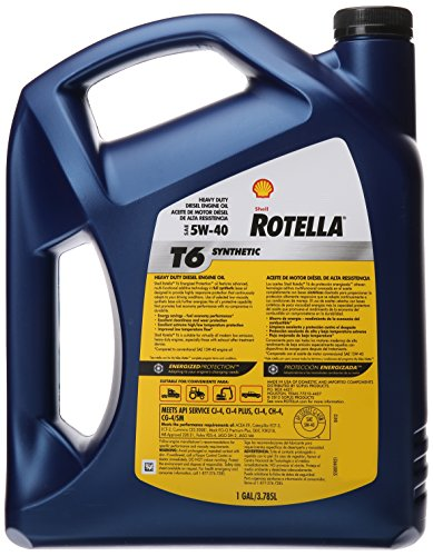 Rotella 550019921 T6 5w 40 Full Synthetic Heavy Duty Diesel Engine Oil Cj 4 1 Gallon Autos Post