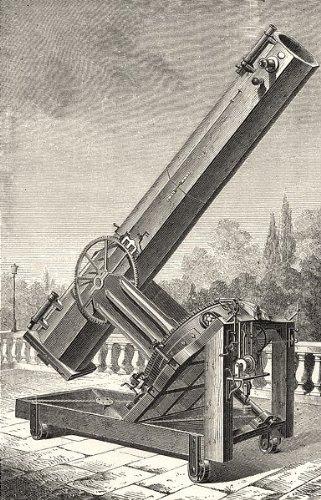 Marseille: Mirror Telescope; (Foucault) Observatory; Antique Print 1877