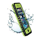Iphone 5C IPX68 Waterproof Case Cover,Nika shop Series Untra Full Body Armor Heavy Duty hockproof Dustproof Sweatproof, Dirtproof Snowproof Snow Proof Durable Protective Hard Shell Cover Case With Built-In Ultra Clear Screen Protector For iphone 5C Verizon, AT&T Sprint, T-mobile, Unlocked - Retail Packaging (Nika shop-Green)