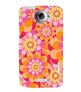 printtech Abstract Design Back Case Cover for HTC One XT / HTC 1X