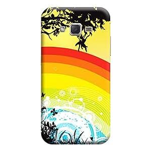 Desicase Samsung J3 Rainbow Art 3D Matte Finishing Printed Designer Hard Back Case Cover (Multicolor)