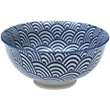 Japanese Style Blossom Bowl Navy Waves
