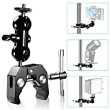 Neewer® Cool Ballhead Arm Multi-functional Double Ball Adapter with Bottom Clamp and Standard 1/4