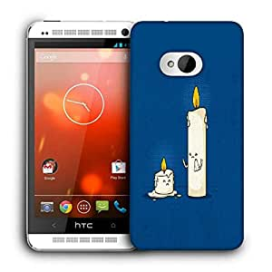 Snoogg Dying Candle Printed Protective Phone Back Case Cover For HTC One M7
