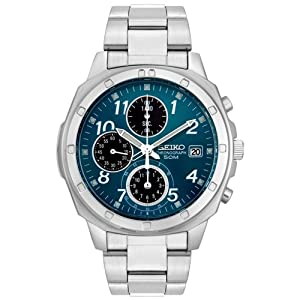 Seiko Men's SND193 Stainless Steel Chronograph Watch