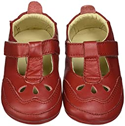 Old Soles Petite Petal T-Bar Shoe, Red, 19 EU(3 M US Infant)