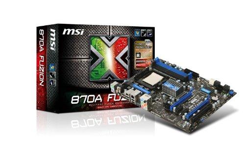MSI Socket AM3/AMD 770/SATA3&USB3.0/DDR3/A&GbE/ATX Motherboard 870A FUZION