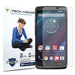 Tech Armor Motorola Turbo High Defintion (HD) Clear Screen Protectors - Maximum Clarity and Touchscreen Accuracy [3-Pack] Lifetime Warranty
