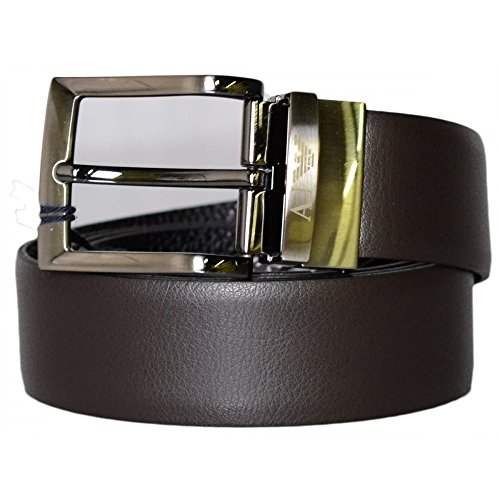 Armani Jeans Men's Clean Reversible Belt, Brown/Black, One Size (Belts Men Armani compare prices)
