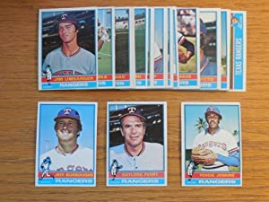 Texas Rangers 1976 Topps Baseball Team Set w  year-end traded cards (31 Cards)... by Topps