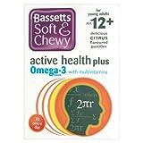 Bassett's Soft & Chewy Active Plus Omega-3 - Citrus Flavour 30 Pastilles