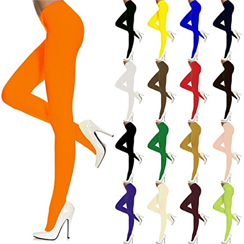 Opaque Neon Tights Plus Size Color:White