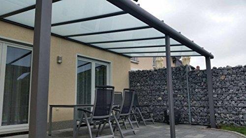 terrasse berdachung terrassendach classico s aus aluminium mit vsg glas klar 10 2 ral 7016. Black Bedroom Furniture Sets. Home Design Ideas