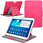 Evecase Auto Sleep/Wake Multi-Angle Stand Folio Cover Case for Samsung Galaxy Tab 3 10.1 - 10.1'' Tablet (GT-P5200 / GT-P5210 Wifi 3G) - Hot Pink