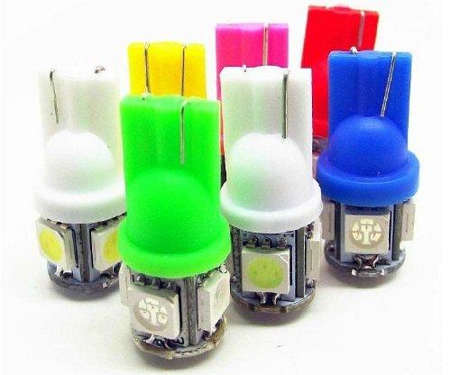[Taro Works]4 X T10 194,168,2825, 5050 Smd Led 12V Blue Super Bright Car Lights Lamp Bulb