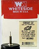 Whiteside Router Bits SC062 Standard Straight Bit with Solid Carbide 1/16-Inch Cutting Diameter and 3/16-Inch Cutting Length