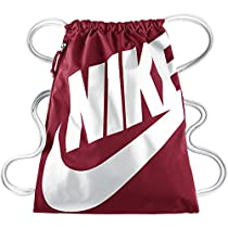 Nike Heritage Logo Drawstring Sackpack Gym Bag, Red/White
