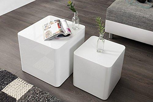 DuNord-Design-Beistelltisch-Couchtisch-MONOLIT-hochglanz-weiss-2er-Set-Design-Tisch-Set