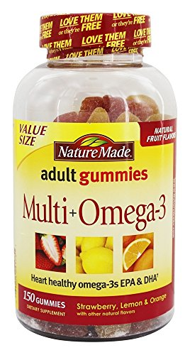 Nature Made - Multi + Omega-3 Adult Gummies Strawberry, Lemon & Orange - 150 Gummies (Nature Made Multi Adult Gummies compare prices)