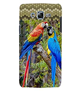 ColourCraft Colourful Parrots Design Back Case Cover for SAMSUNG GALAXY J7