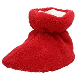 ACORN Spa Terry Bootie,Scarlet,TL (12-18 Months M US Infant)