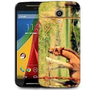 Snoogg Barrier Designer Protective Phone Back Case Cover For Motorola G 2nd Genration / Moto G 2nd Gen