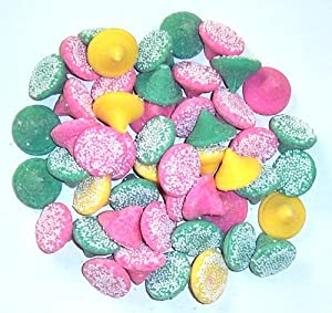 Scott's Cakes Smooth N Melty Pastel Mints in a 1 Pound White Polka Dots Bag