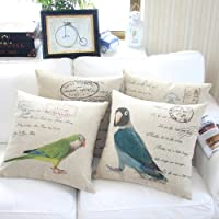 "Yamimi parrot Linen Cloth Pillow Cover Cushion Case 18"",Q174 from Yamimi"